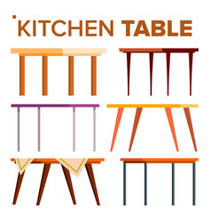 kitchen table set interior design element vector image