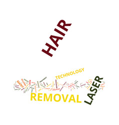 Laser hair removal what is it text background vector