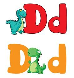 letter D dinosaur vector image