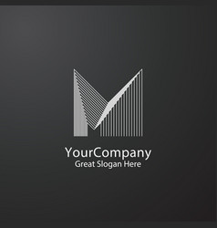letter m logo design concept for corporate vector image