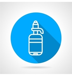Line water bottle round icon vector