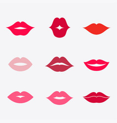 Lips icon set vector