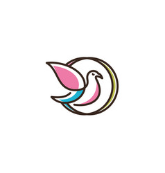 logo of birds icon line art picture vector image