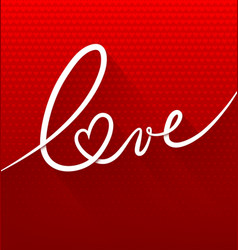 Love text vector image