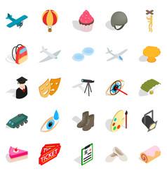 making movie icons set isometric style vector image