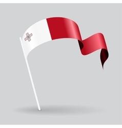 Maltese wavy flag vector image