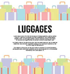 Many Luggages Travel Concept vector
