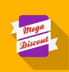 Mega discount icon in flat style isolated on white vector