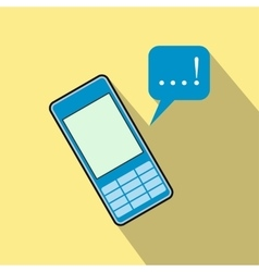 Mobile chatting flat icon vector image