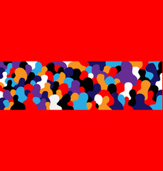 Modern people - abstract art vector