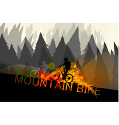 Mountain bike scene vector