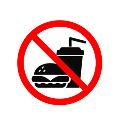 No fast food allowed symbol isolated on white vector