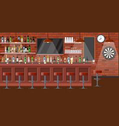 nterior of pub cafe or bar vector image