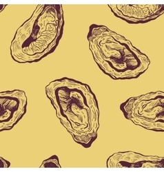 oysters vintage pattern vector image