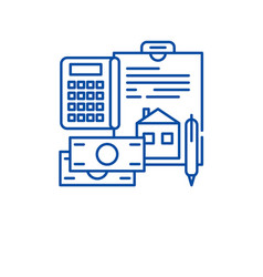 personal expenses line icon concept personal vector image