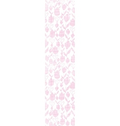 Pink textile tulips texture vertical seamless vector