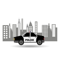Police car city background design vector