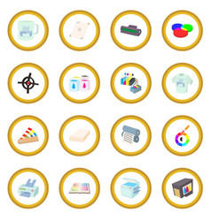printing icon circle vector image