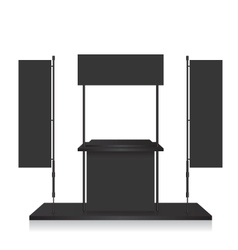 Promotion counter black and blank flag vector