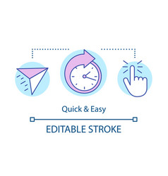 Quick and easy concept icon vector