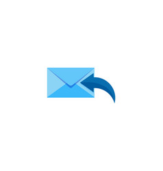 receive mail logo icon design vector image