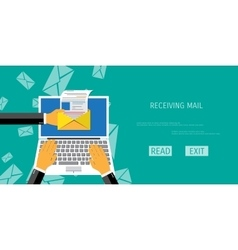 Receive mail web icon vector