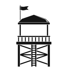 Rescue tower icon simple style vector
