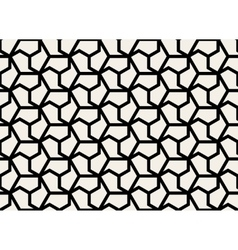 Seamless Black and White Hexagonal Shape vector