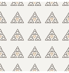 seamless texture of hand-painted triangles vector image