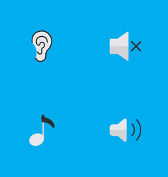 Set of simple music icons vector
