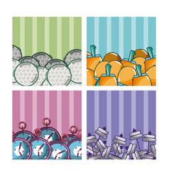 Set of sports equipment vector