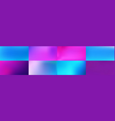 set smooth abstract colorful mesh backgrounds vector image