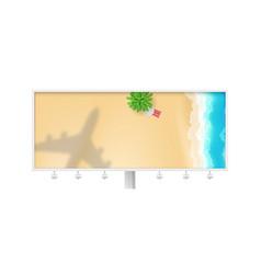 shadow plane under tropical beach landscape vector image