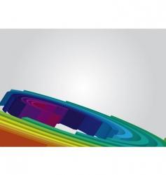 Spiral rainbow background vector