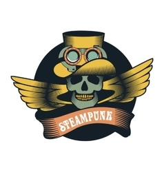 Steampunk skull vector