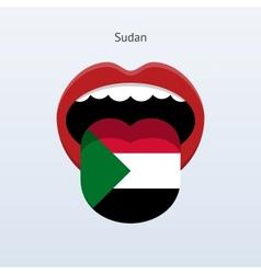 Sudan language Abstract human tongue vector image