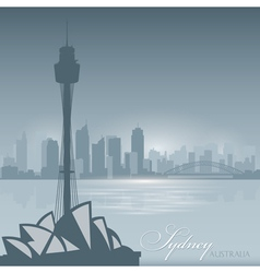 Sydney Australia skyline city silhouette Backgroun vector image