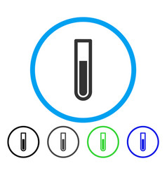 test tube rounded icon vector image