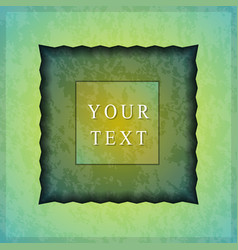 the textured colored frame vector image