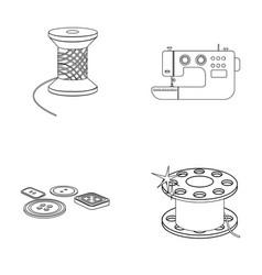 Thread reel sewing machine bobbin pugwitz and vector
