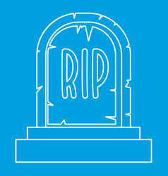 Tombstone icon outline style vector