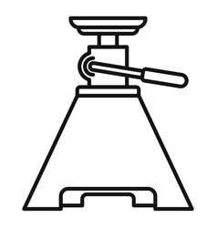 tool jack-screw icon outline style vector image
