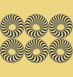 torus abstract design element optical art vector image