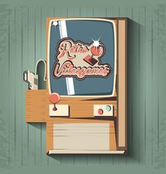 video game retro machine vector image