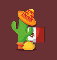viva mexico design vector image