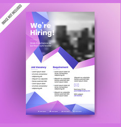 we are hiring poster or banner design job vacancy vector image