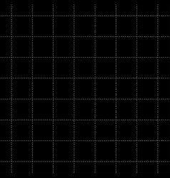 white dash square seamless on black background vector image