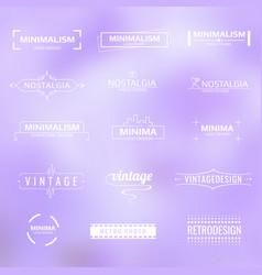 white minimal modern logos vintage labels vector image