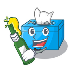 With beer tissue box isolated on the mascot vector