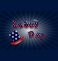 words labor day on background vector image